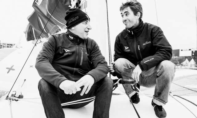 Ciela Village, skippers Thierry Bouchard and Oliver Krauss Portraits expo skippers during pre-start of the Transat Jacques Vabre 2017, duo sailing race from Le Havre (FRA) to Salvador de Bahia (BRA) in Le Havre on November 4th, 2017 - Photo Jean-Louis Carli / ALeA / TJV17