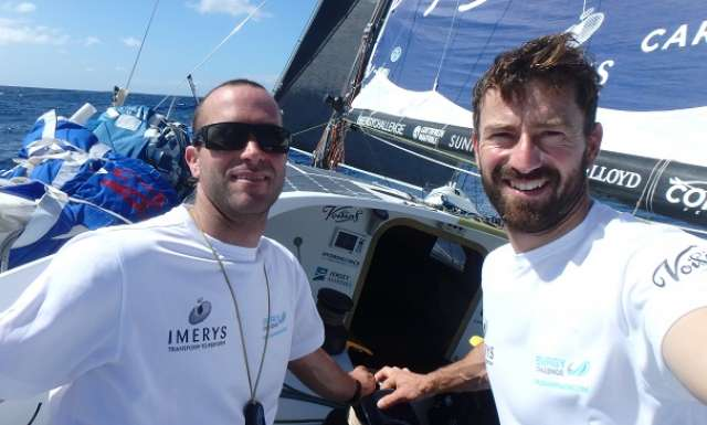 Skipper's log: Phil Sharp and Pablo Santurde, Imerys Clean Energy (Class40)