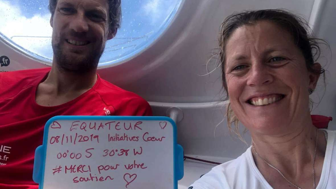 Words from the sea: Samantha Davies (Britain) and Paul Meilhat (France), Initiatives-Cœur (IMOCA)