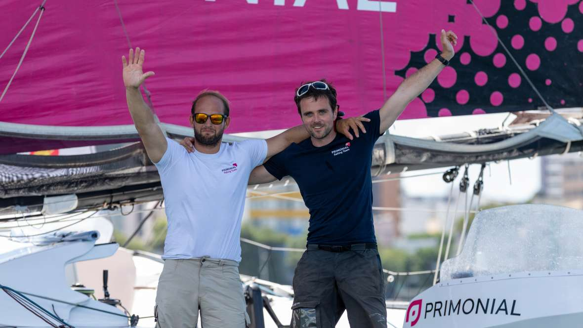 Primonial finishes third in the Transat Jacques Vabre Normandie Le Havre Multi50