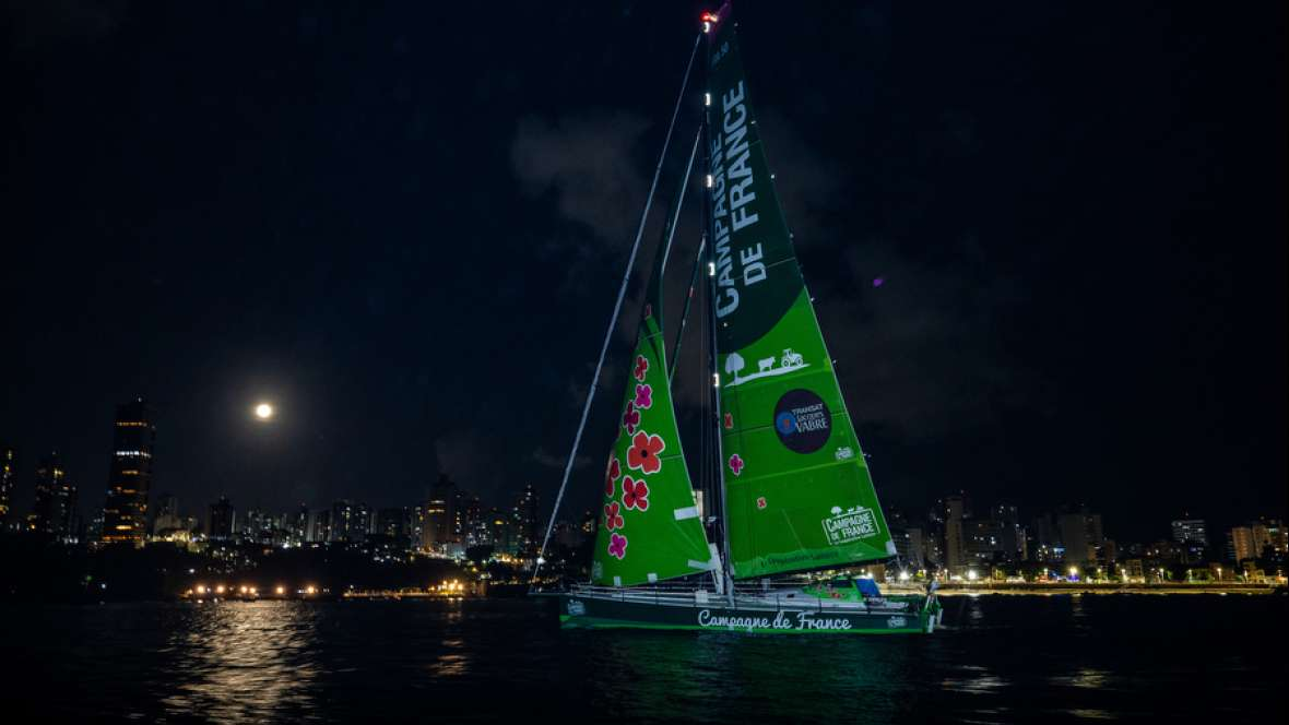 Campagne de France finishes twenty-third in the Transat Jacques Vabre Normandie Le Havre IMOCA