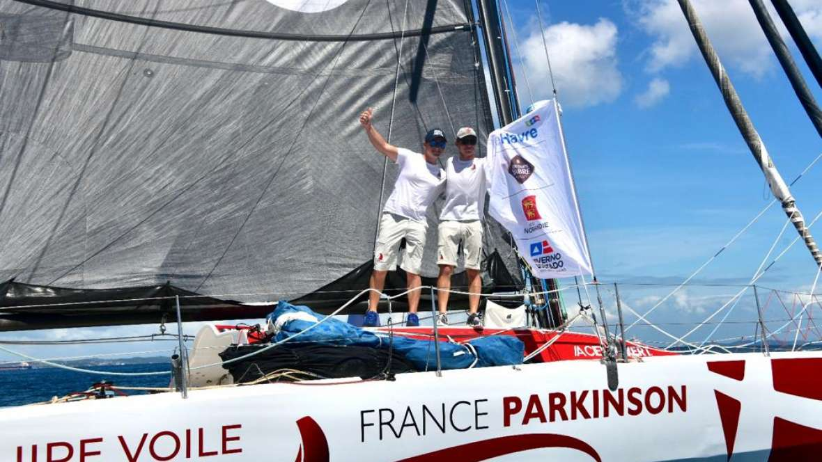 Equipe voile Parkinson finishes twenty first in the Transat Jacques Vabre Normandie Le Havre Class40